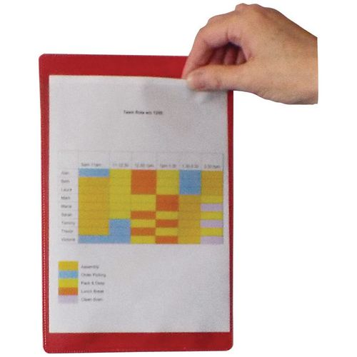 Self-Adhesive Red Document Pocket Id 310X215mm