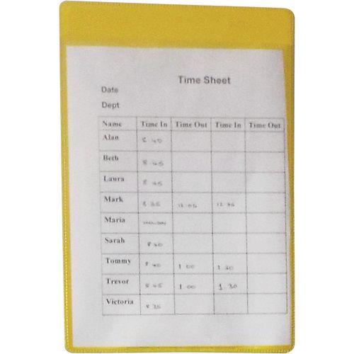 Self-Adhesive Yellow Document Pocket Id 215X160mm