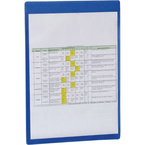 Magnetic Blue Document Pocket Id 215X160mm
