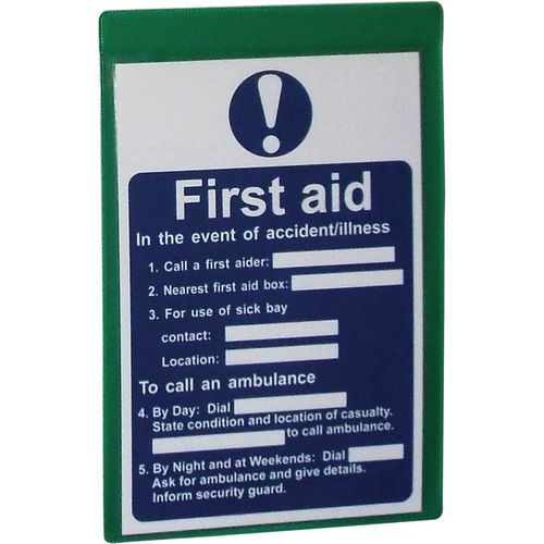 Magnetic Green Document Pocket Id 215X160mm