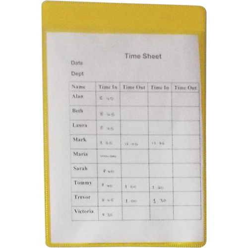 Magnetic Yellow Document Pocket Id 215X160mm