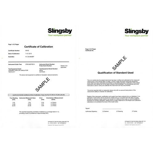 Traceable Calibration Certificate (Temperature)