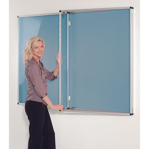 Tamperproof Noticeboards 1200X900 Light Blue Board