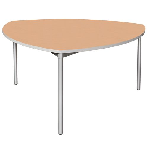 Enviro Shield Shape Canteen Table 1500x1500x1800mm 710mm High Beech - Lightweight, Strong &Robust. Aluminium Frame with Wipe Clean Laminate Surface