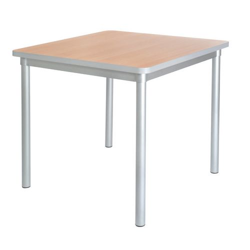 Enviro Square Canteen Table W750xD750xH710mm Beech - Lightweight, Strong &Robust. Aluminium Frame with Wipe Clean Laminate Surface