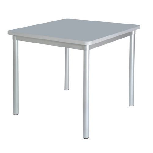 Enviro Square Canteen Table W750xD750xH710mm Storm Grey - Lightweight, Strong &Robust. Aluminium Frame with Wipe Clean Laminate Surface
