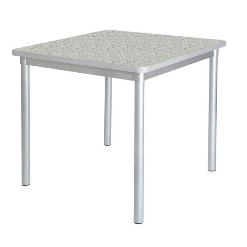 Enviro Square Canteen Table W750xD750xH710mm Ailsa Grey - Lightweight, Strong &Robust. Aluminium Frame with Wipe Clean Laminate Surface