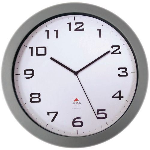Large 38Cm Silent Quartz Clock Silver