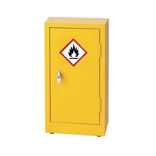 88F733Stock Flammable 712x355x305 Yellow 1 Shelf