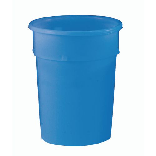 Cylindrical Food Grade Plastic Tapered Storage Container 23L Dia.385xH420mm Blue - Heavy Duty, Nestable, Hygienic Easy Clean Seamless Design
