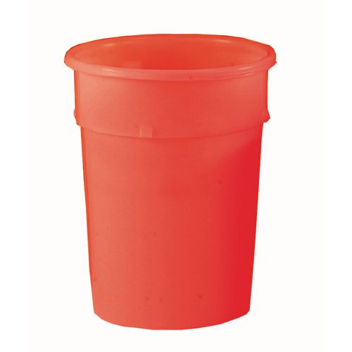 Cylindrical Food Grade Plastic Tapered Storage Container 114L Dia.590xH690mm Red - Heavy Duty, Nestable, Hygienic Easy Clean Seamless Design
