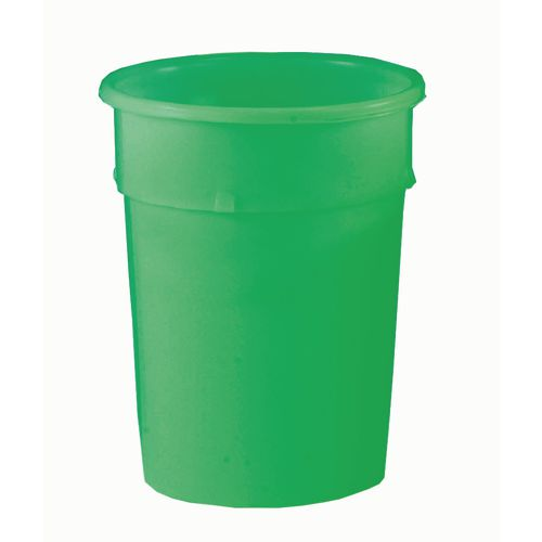 Cylindrical Food Grade Plastic Tapered Storage Container 114L Dia.590xH690mm Green - Heavy Duty, Nestable, Hygienic Easy Clean Seamless Design