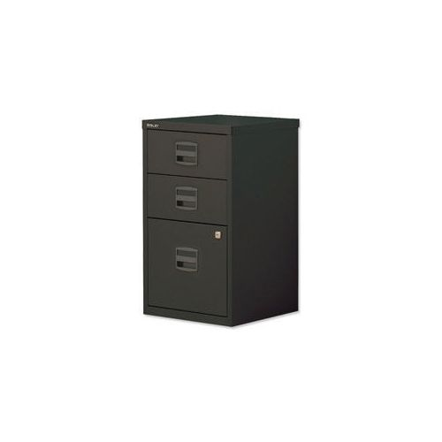 Bisley Pfa Home Filer 1xFiling 2xStationery Drawers Black