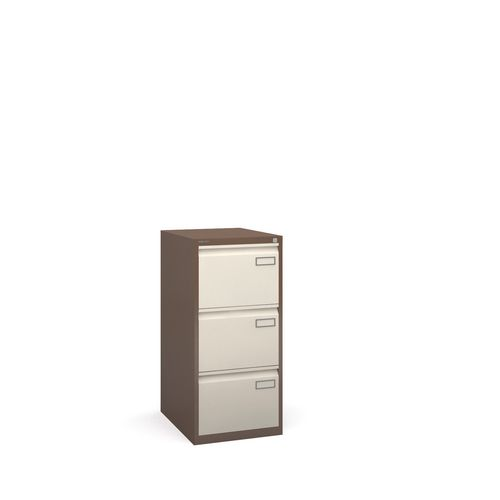 Bisley Psf Filing Cabinet 3 Drawer Coffee &Cream