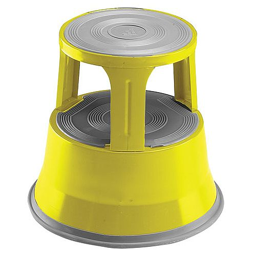 Steel Mobile Safety Step Stool Yellow