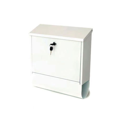 Post Box Tees White Steel HxWxD(mm): 410x365x110