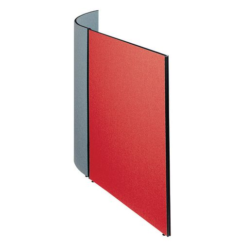 Busyscreen Partition System Flat Screen W1200xH1825mm Red