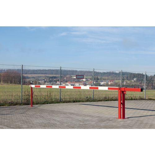 Compact System Boom Barrier Counterweight Arm 6000mm Long With Fixed Support Arm