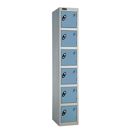 6 Door Locker D:305mm Silver Body &Ocean Door