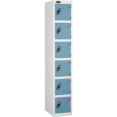 6 Door Locker D:457mm White Body &Ocean Door