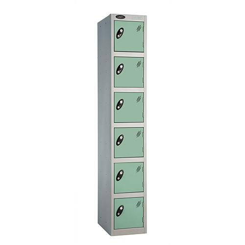 6 Door Locker D:305mm Silver Body &Jade Door