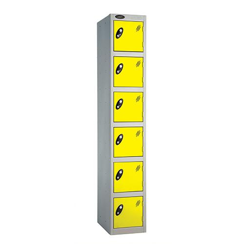 6 Door Locker D:305mm Silver Body &Lemon Door