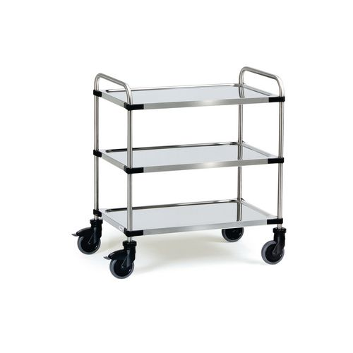 Modular Stainless Steel Trolley 630x400mm With 3 Shelves