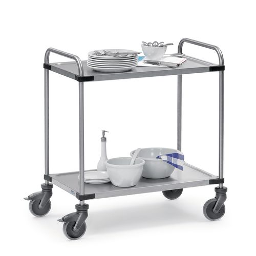 Modular Stainless Steel Trolley 800x500mm With 2 Shelves