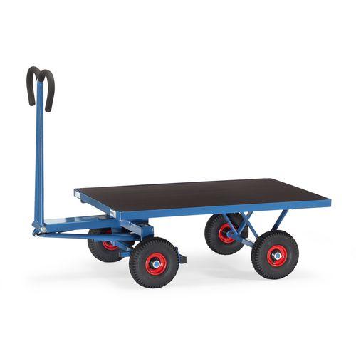 Truck Turntable 1200x800mm Pneumatic Tyres Flat Platform 700Kg Capacity