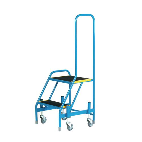 Mobile Step 2 Tread With One Handrail Blue