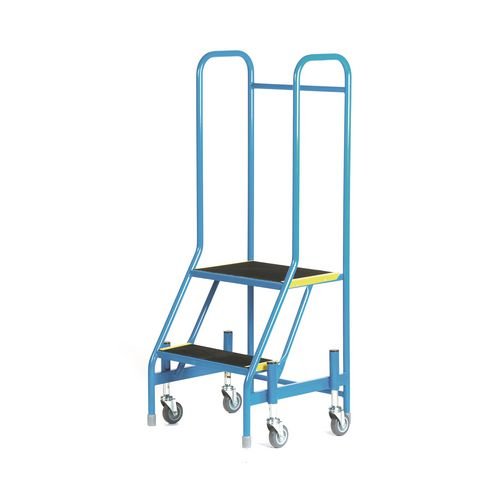 Mobile Step 2 Tread With Full Handrail Blue