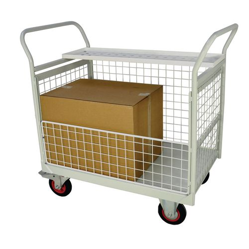 Mailroom Trolley With Half Side 830.600.1200
