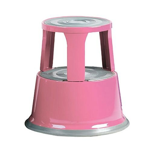 Steel Mobile Safety Step Stool Pink