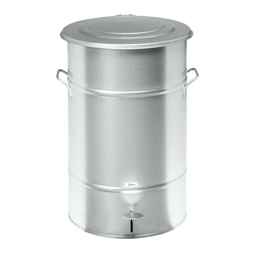 Waste Bin Galvanized 630 X 415 X 415mm With Foot Pedal For Easy Opening
