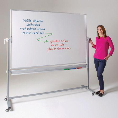 Write-On Revolving Portrait Whiteboard H x W: 1200 x 900mm