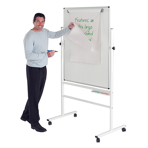 Write-On Revolving Whiteboard  1200x900mm (Hxw)  Magnetic
