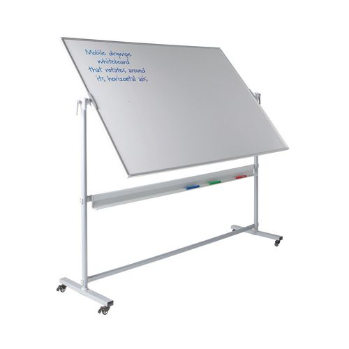 Write-On Revolving Whiteboard  1200x1500mm (Hxw)  Magnetic