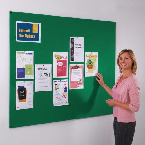 Frameless Felt Noticeboard 600x900mm (Hxw) Green