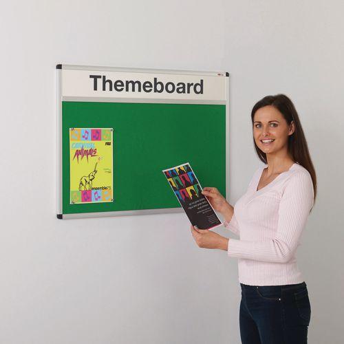 Themeboard Open Noticeboard  1200x2400mm (Hxw)  Green