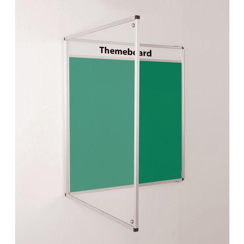 Themeboard Tamperproof Noticeboard  1200x900mm (Hxw)  Green