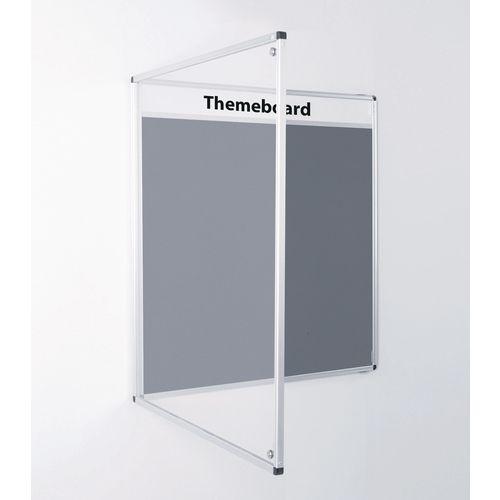 Themeboard Tamperproof Noticeboard  1200x900mm (Hxw)  Grey