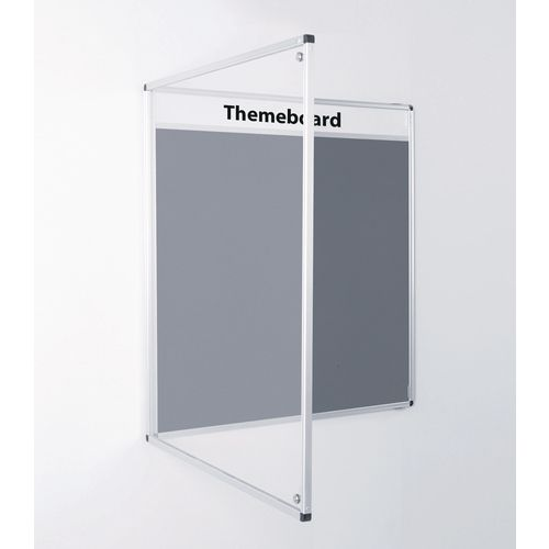 Themeboard Tamperproof Noticeboard  1200x1800mm (Hxw)  Grey