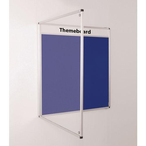 Themeboard Tamperproof Noticeboard  1200x2400mm (Hxw)  Blue