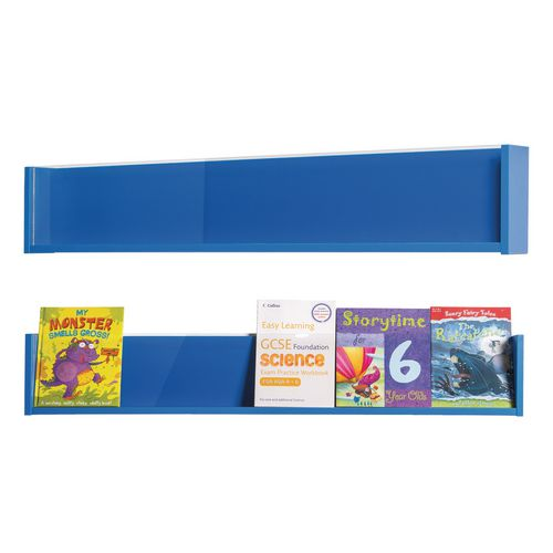 Shelf Style Wall Mounted Display  Pack Of 3  Blue