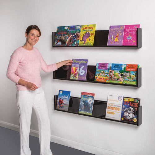 Shelf Style Wall Mounted Display  Black