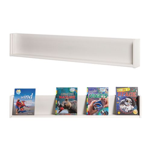 Shelf Style Wall Mounted Display  Pack Of 3  White