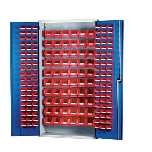 Louvred Panel Cabinet Cw 120xTc1 Red And 60xTc3 Red