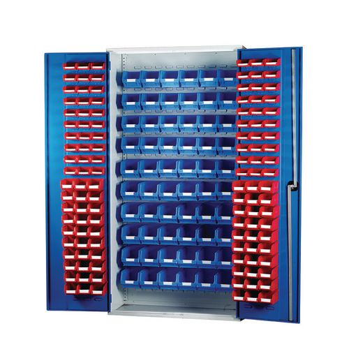Louvred Panel Cabinet Cw 60xTc1 Red 60xTc2 Red And 60xTc3 Blue