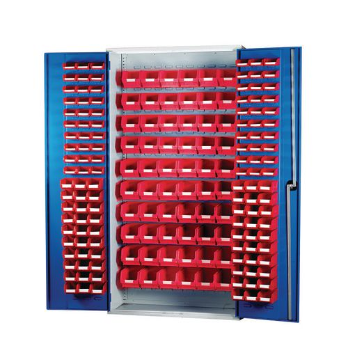 Louvred Panel Cabinet Cw 60xTc1 Red 60xTc2 Red And 60xTc3 Red