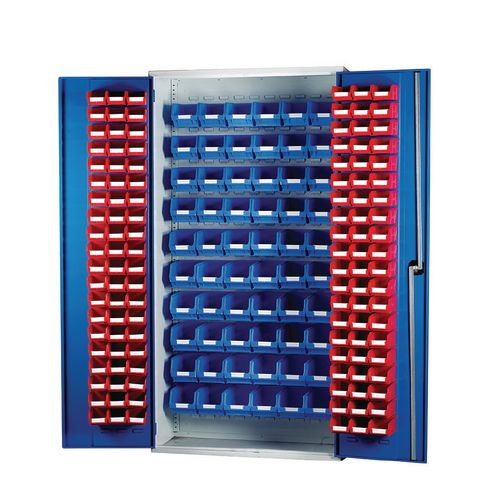 Louvred Panel Cabinet Cw 120xTc2 Red And 60xTc3 Blue